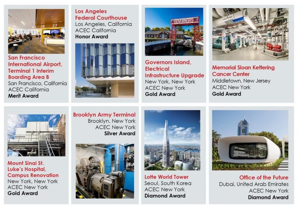 Syska Receives 8 Engineering Excellence Awards from ACEC